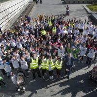 REMEMBERING RUBY!. . . . .The Mayor, Councillor John Boyle pictured with those who took part in Saturday's 'Walk for Ruby', an event organised by the Foyle Down Syndrome Trust in memory of little Ruby Lynch (7) who passed away this time last year. (Photos: JIm McCafferty Photography)